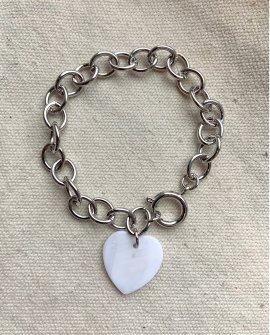 Браслет-цепь с сердечком Menta S
