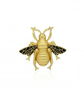 Брошь золотая пчела 2