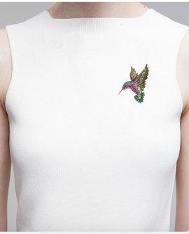 Брошь-кулон колибри 7