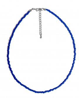 Чокер из синего бисера