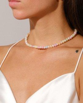 Ожерелье из жемчуга и кварца SAHARE ONE G