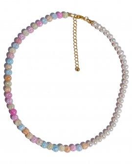 Ожерелье из жемчуга и кварца SAHARE G