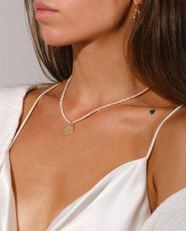 Ожерелье из жемчуга с подвеской смайлик