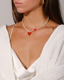 Ожерелье из жемчуга Prisme Red