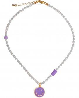 Ожерелье из жемчуга Smile Lilac