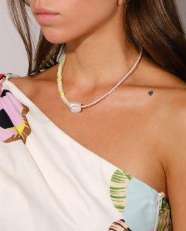 Ожерелье из жемчуга и агата Color