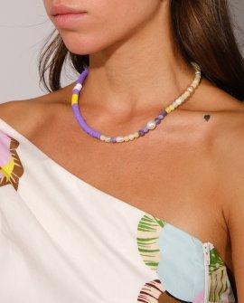 Ожерелье из жемчуга и агата RB S