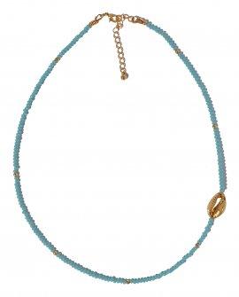 Ожерелье из гранненого хрусталя с ракушкой G