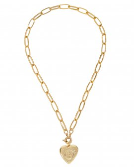 Колье-цепь с медальоном Y&N