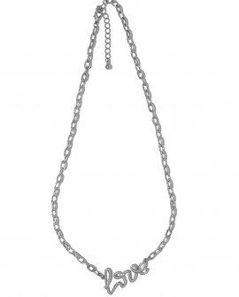 Колье-цепь с подвеской Love Mini S