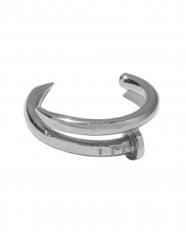 Кольцо-гвоздь TWO Nails серебристый