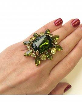 Кольцо цветок богем
