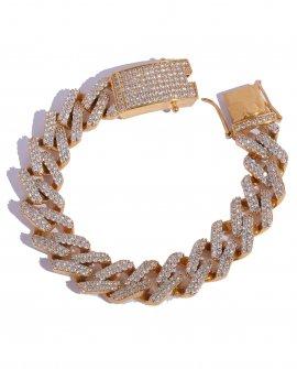 Браслет-цепь Crystall Nx Gold