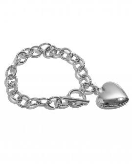 Браслет-цепь с сердечком Iris S
