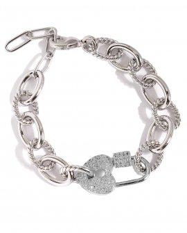 Браслет-цепь Heart Crystall 1