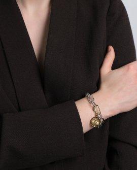 Браслет-цепь с медальоном snake