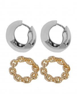 Серьги-кольца Sature 2