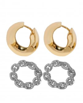 Серьги-кольца Sature 1