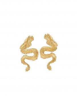 Серьги маленькие драконы DRAGON GOLD