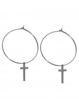 Серьги-кольца с крестами RW1-20 S
