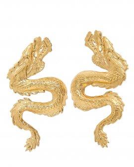 Серьги драконы DRAGON GOLD