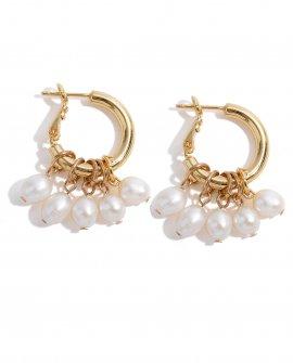 Серьги-кольца Miniarture Pearls