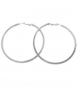 Серьги-кольца с кристаллами Kana S XX